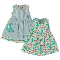 Frugi Dino Nora Reversible Dress
