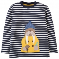 Frugi Walrus Discovery Applique Top