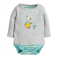 Frugi Dodos Poppet 2 in 1 Body Top