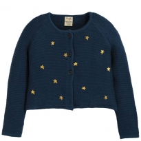 Frugi Emilia Embroidered Stars Cardigan