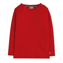 Frugi Tango Red Favourite Long Sleeve Tee