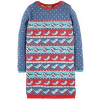 Frugi Robin Rally Fern Knitted Dress