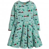 Frugi Festive Farm Sofia Skater Dress