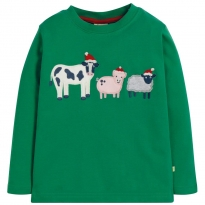 Frugi Festive Friends Adventure Applique Top