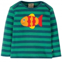 Frugi Fish Bobby Applique Top