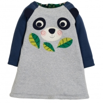 Frugi Floral Panda Peek A Boo Dress