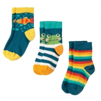 Frugi Frog Little Socks 3 Pack