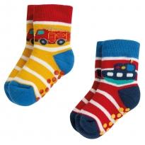 Frugi Grippy Transport Socks 2 Pack