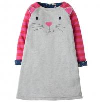 Frugi Hide & Seek Reversible Hygge Cats Dress