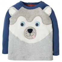 Frugi Husky Dog Happy Raglan Top