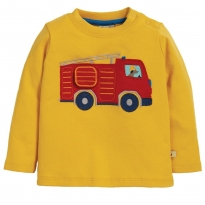 Frugi Engine Ira Interactive Applique Top
