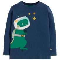 Frugi Dino Joe Applique Top