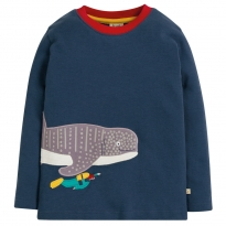 Frugi Whale Shark Joe Applique Top