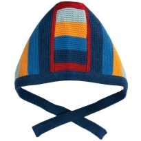 Frugi Jolly Stripe Bertie Knitted Bonnet