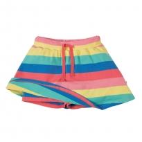 Frugi Rainbow Stripe Spring Skort