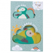 Frugi Little & Large Dodo Socks 0-6 Months / Medium Adult