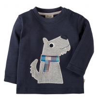 Frugi Dog Little Discovery Applique Top