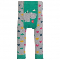 Frugi Little Knitted Hippo Leggings