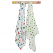 Frugi Dino Lovely Muslin 2 Pack