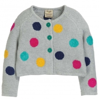 Frugi Multi Spot Emilia Embroidered Cardigan