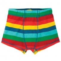Frugi Multi Stripe Sean Printed Boxer Shorts