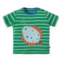 Frugi Fish Atlantic Applique T-Shirt