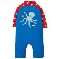 Frugi Blue Octopus Little Sun-Safe Suit