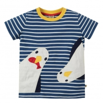 Frugi Sid Breton Seagulls Applique T-Shirt