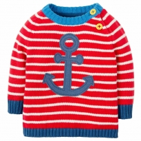 Frugi Little Finn Anchor Knitted Jumper
