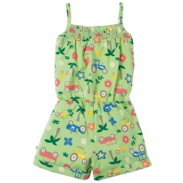 Frugi Tropical Tractors Perranuthnoe Playsuit