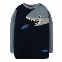 Frugi Jasper Shark Character Jumper