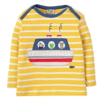 Frugi Boat Bobby Applique LS Top