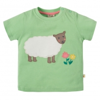 Frugi Sheep Little Polkerris Applique T-Shirt