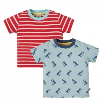 Frugi Puffin Island Tresco T-Shirts x2