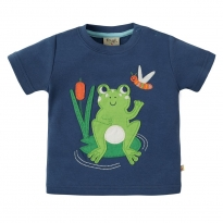 Frugi Frog Little Creature Applique SS Top