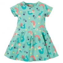 Frugi Mermaid Magic Little Spring Skater Dress