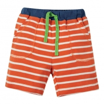 Frugi Orange Breton Stripy Shorts