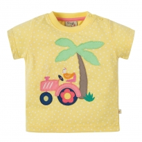 Frugi Tractor Little Polkerris Applique T-Shirt