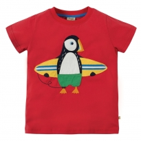 Frugi Puffin Stanley Applique T-Shirt