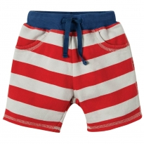 Frugi Tomato Stripe Little Samson Shorts
