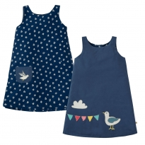 Frugi Seagull Rose Reversible Seagull Dress