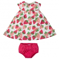 Frugi Scilly Strawberries Dolly Muslin Outfit
