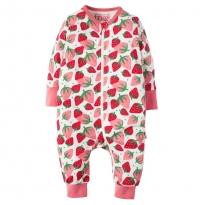 Frugi Scilly Strawberries Summer Zip Babygrow