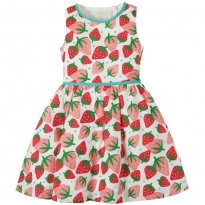 Frugi Scilly Strawberries Wren Woven Dress