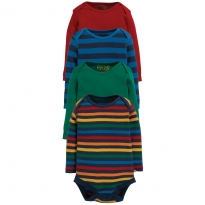 Frugi Over the Rainbow LS Bodies 4 Pack