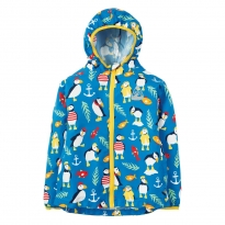 Frugi Paddling Puffins Puddle Buster Pack Away Jacket