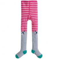 Frugi Panda Fun Knee Tights