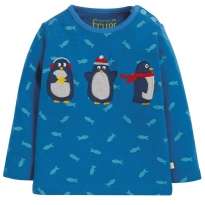 Frugi Penguin Button Applique Top