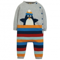 Frugi Penguin Cosy Knitted Romper