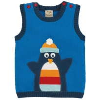 Frugi Penguin Hank Knitted Tank Top